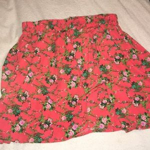 Forever 21 Orange Skirt